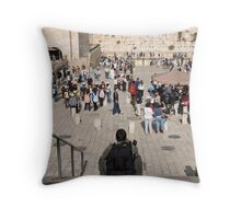 Taking a break in front of the Western Wall. Throw Pillow