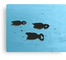 Duck Siloette 2 Canvas Print