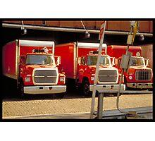 Red trucks - NYC Photographic Print