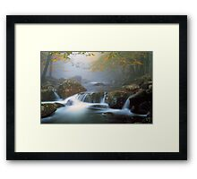 TOUCHING CALM* Framed Print