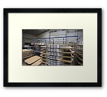 industrial assembly shop Framed Print