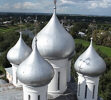 Church domes top view by mrivserg