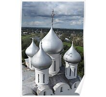 Church domes top view Poster