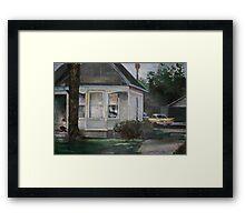 1960's suburbia Framed Print