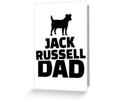 Jack Russel Dad Greeting Card