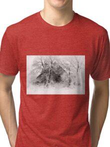 White Christmas Tri-blend T-Shirt
