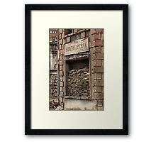 War window laid down sand bags Framed Print