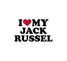 I love my Jack Russel Photographic Print