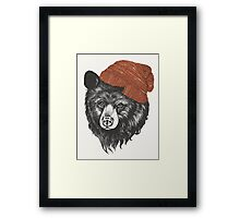 zissou the bear Framed Print