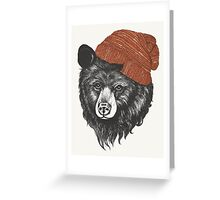 zissou the bear Greeting Card