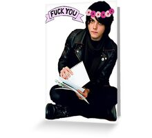 Gerard Way - Fuck You Flower Crowns  Greeting Card