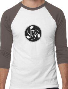 Music Notes black & white Men's Baseball ¾ T-Shirt