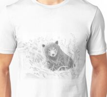 Grizzly Bear Cub Drawing Unisex T-Shirt
