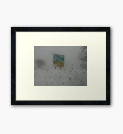 Snowmageddon Framed Print