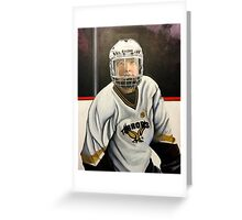 """Hockey Player""  Greeting Card"