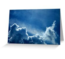 HEAVENLY BLUE CLOUDS Greeting Card