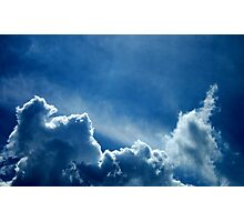 HEAVENLY BLUE CLOUDS Photographic Print