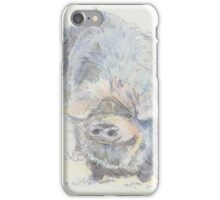 Pot Bellied Pig Drawing iPhone Case/Skin