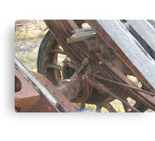 Crusty Rusty Old Farm Wheel Canvas Print