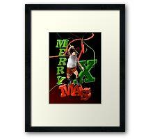 Xmas Dwarf Framed Print
