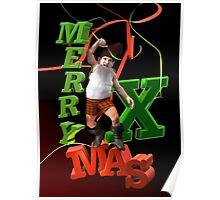 Xmas Dwarf Poster