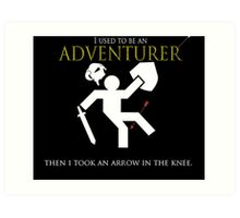 Adventurer with an arrow in the knew Art Print