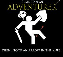 Adventurer with an arrow in the knew by TheGamerbo