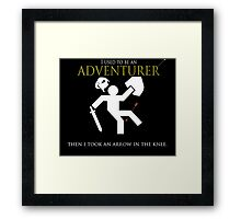 Adventurer with an arrow in the knew Framed Print