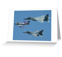 USAF Heritage Flight Greeting Card