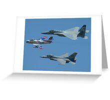 USAF Heritage Flight Greeting Card
