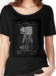 1885 View Camera Patent Art-BK Women's Relaxed Fit T-Shirt