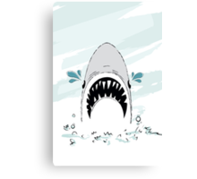 Crying Shark Canvas Print