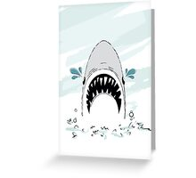 Crying Shark Greeting Card