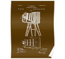 1885 View Camera Patent Art Poster
