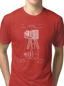 1885 View Camera Patent Art Tri-blend T-Shirt