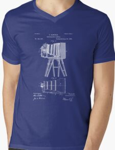 1885 View Camera Patent Art Mens V-Neck T-Shirt