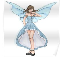 Blue Faery Poster