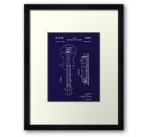 Les Paul Patent Image-Filed Dec. 3, 1959 (PD) Framed Print