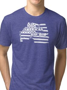 American Hip Hop (White) Tri-blend T-Shirt