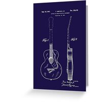 Gretch Guitar 1941 Patent Greeting Card
