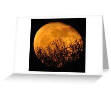 Fiery Moonrise Greeting Card
