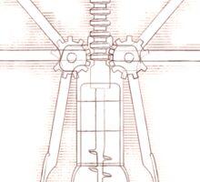 Da Vinci's Real Screw Invention Sticker