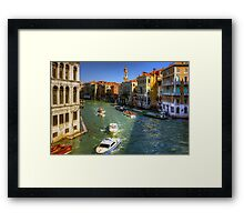 Looking North on the Grand Canal Framed Print
