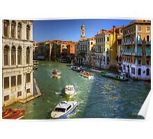 Looking North on the Grand Canal Poster