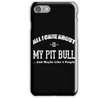Love Pit Bulls? iPhone Case/Skin