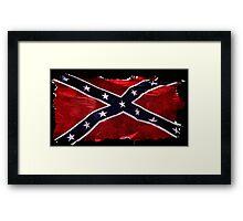 Rebel Confederate Flag Southern Cross  Framed Print