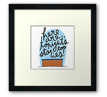 Weekend Update Framed Print
