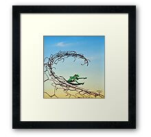 Surfin' the Net Framed Print