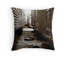 Between Two Trains Throw Pillow