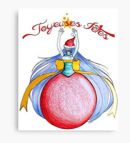 Joyeuses Fetes ! (Happy Holidays !) Canvas Print